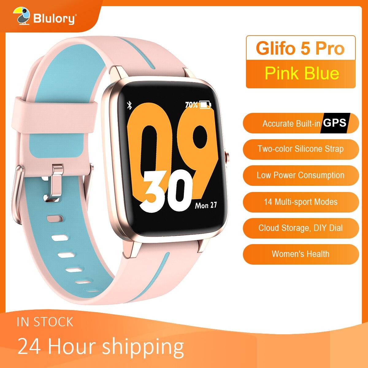 Смарт-часы Blulory Glifo 5 Pro, GPS, Bluetooth, пульсометр