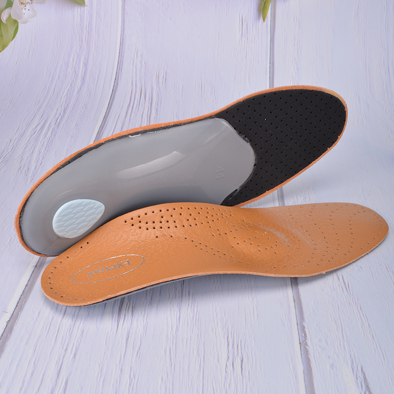 EXPfoot Healthy Orthotic Leather Insole Orthopedic Insole Arch Support 25mm EVA Pad Deodorize For Men And Women Shoes