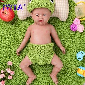 IVITA WG1502-cuerpo de silicona de 46cm y 3500g, muñecos Reborn de bebé,...