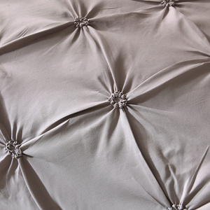 Image 3 - الفاخرة الكلاسيكية 2/3 قطعة أغطية السرير حاف طقم أغطية مع المخدة بلون الطيات طقم سرير واحد الملكة سرير ملكي الكتان