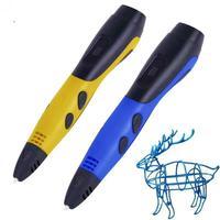 Caneta de impressão 3d pla suporta abs e pla crianças diy desenho caneta e lcd hd display lcd interface usb criativo 3d caneta