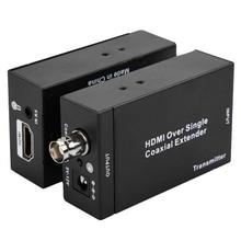 HDMI удлинитель NK-C100IR по одному коаксиальному кабелю 1080P HD конвертер ИК удлинитель для передатчика приемник Аудио Видео