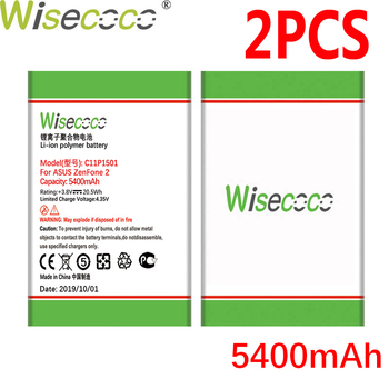 WISECOCO 2PCS 5400mAh C11P1501 Battery For Asus Zenfone 2 Laser Zenfone2 Laser ZE601KL Selfie ZE550KL ZE600KL ZD551KL Phone image