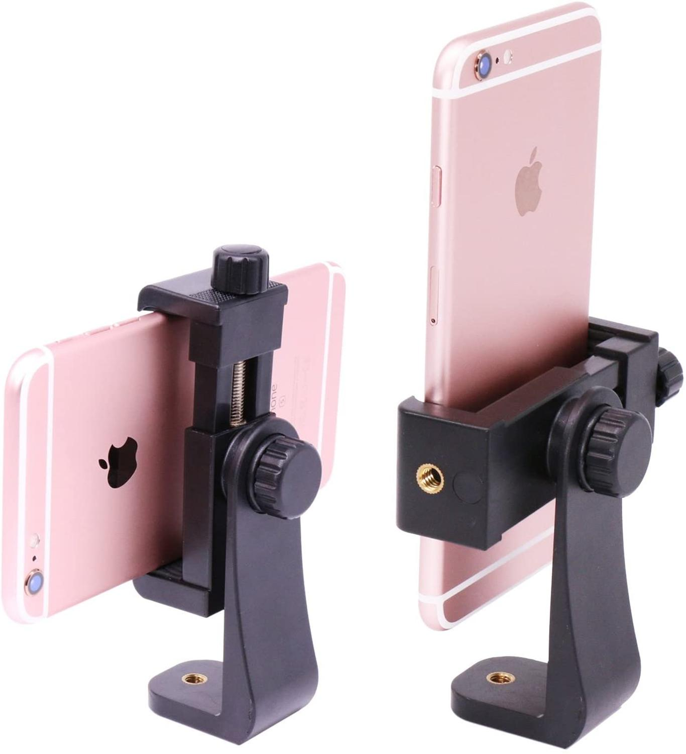 Universal Phone Tripod Mount Adapter Cell Phone Clipper Vertical Bracket for iPhone 11 Pro Max XR Xs 8 Plus Samsung Pixel