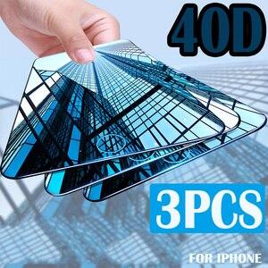 Image 1 - 3Pcs Volle Abdeckung Screen Protector Für iPhone 6 7 8 6S Plus Gehärtetem Glas Auf Die Für iPhone X XR XS MAX Schutz Glas Film