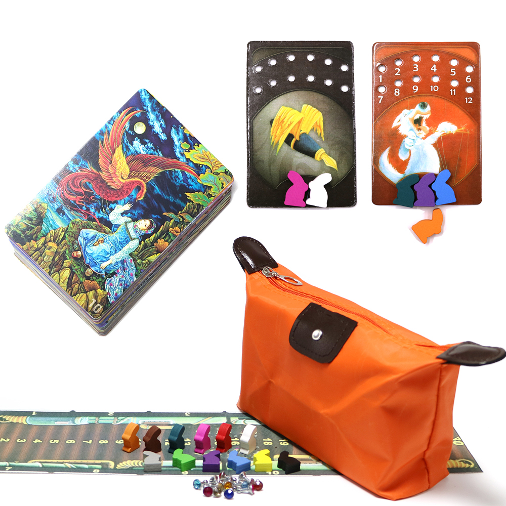 New DD, Mini Dixit Board Games Deck 10- Freedom Wooden Bunny Kids Toys 78 Playing Cards Game For Home Party Game