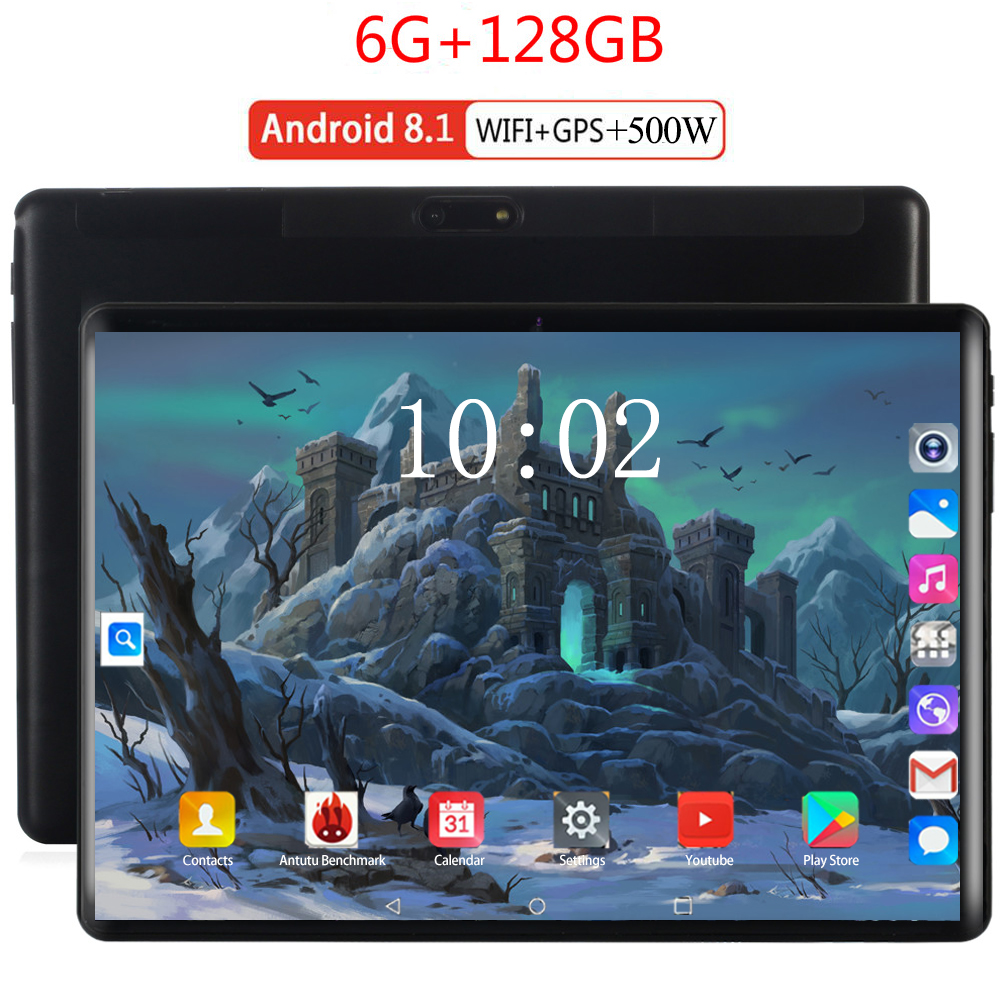 3G/4G LTE 10.1 Inch Tablet PC Google Store Android 8.0 Octa Core 6GB RAM128GB ROM Smartphone Android WIFI 10