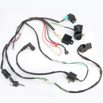Motorcycle CDI Wiring Harness Loom Solenoid Ignition Coil Rectifier for 50cc 70CC 90CC 110cc PIT Quad Dirt Bike ATV Parts excavator solenoid coil 6d102 for 20y 60 32120