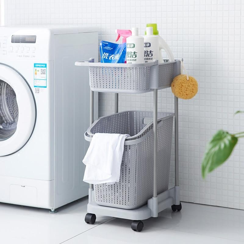 Plastic Dirty Clothes Basket Storage Rack Bathroom Laundry Toy Clothes Dirty Clothes Storage Basket