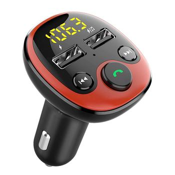 Car Bluetooth FM Transmitter Handsfree Car Kit MP3 Player Dual USB 3.1A Fast Charger External U Disks Automobiles Electronics image