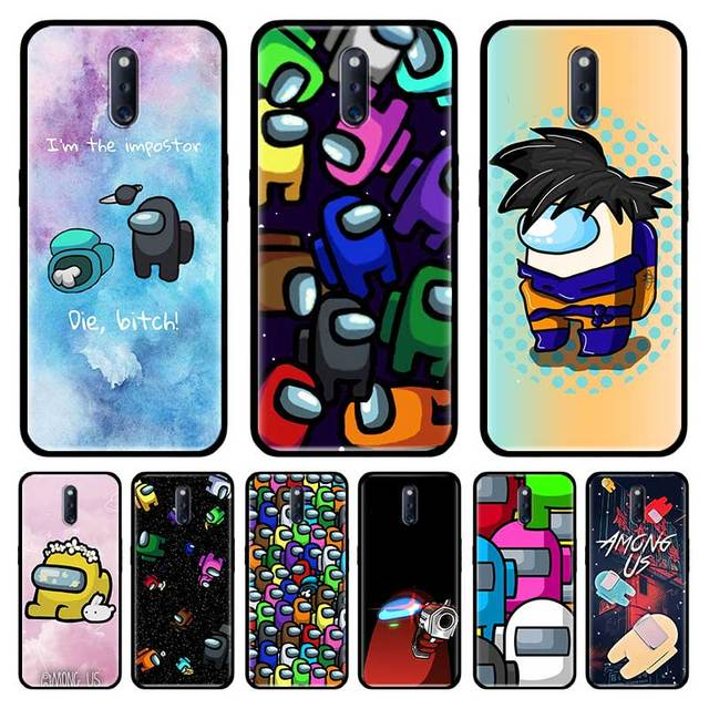 Among Us Game Cute Tpu Case For Oppo A9 A5 A52 A72 2020 A92s A31 A32 A12s Ace Find X2 Neo Reno3 Pro Cover Soft Phone Coque