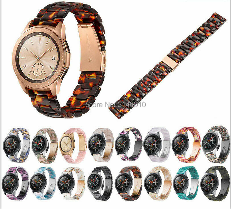 Quick Release Resin Wristband Watch Band Strap For Samsung Galaxy Watch S3/S2  Galaxy 42mm/46mm/Gear S3/S2/Active Ticwatch 2/E