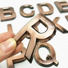 3d A-Z letras e números placa moderna casa números 0 a 9 porta do hotel numeral placa endereço casa número rua adesivos