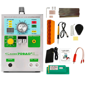 Image 1 - SUNKKO 3.2KW 709AD+ spot welder machine pulse spot welding for 18650 battery pack Production with welding pen and soldering iron