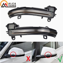 Scroll LED Dynamic Side Mirror Flashing Light Repeater Blinker For BMW X2 X1 F48 F49 1/2 series F45 F46 F52 Sedan 2016-2018(China)