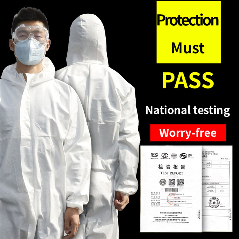 Reusable Hazmat Suit Anti-Virus Protection Protective Clothing Safety Coverall Disposable Washable Medical Surgical Safety Suit