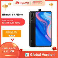 "In lager Globale Version Huawei Y9 Prime 2019 Smartphone AI Triple Hinten Kameras 4GB128GB Auto Pop Up Front Kamera 6.59 ""handy"