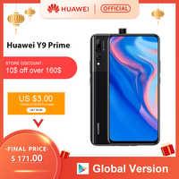 Versão global huawei y9 prime 2019 smartphone ai triplo câmeras traseiras 4 gb 128 gb auto pop up câmera frontal 6.59 cellphone celular