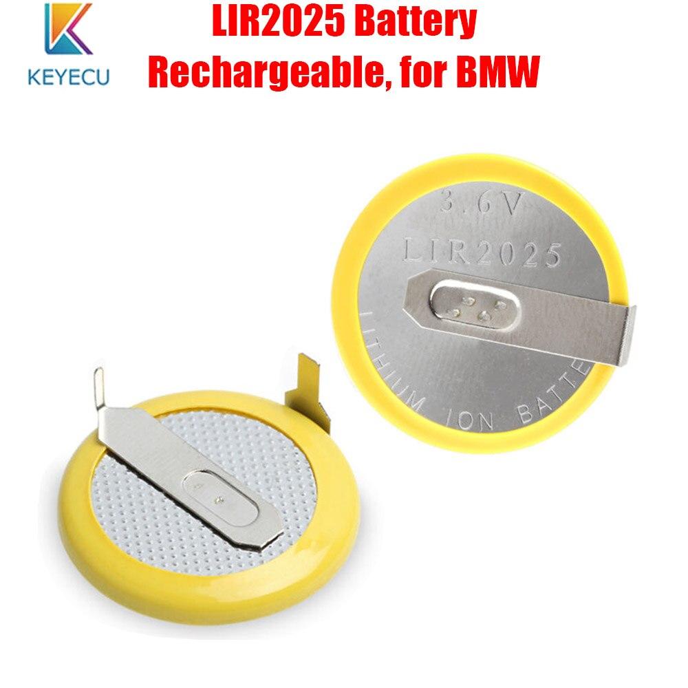 KEYECU 10 × 30 × 100 × LIR2025 аккумуляторная батарея для BMW 3 5 серии E46 E39 дистанционный ключ
