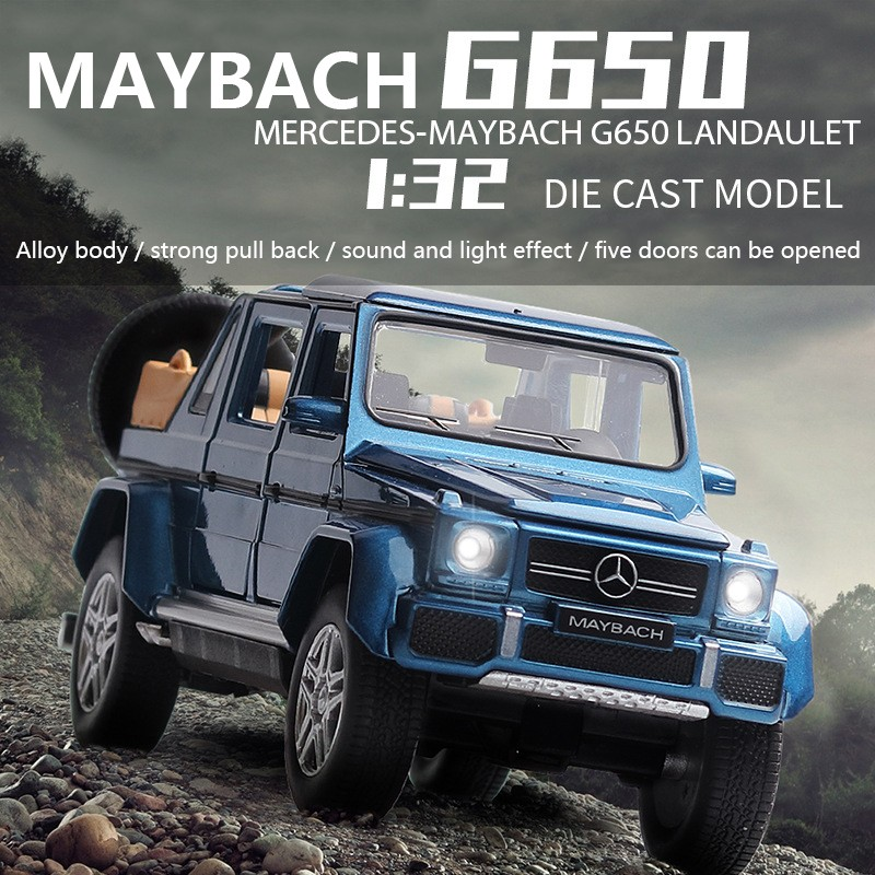 1:32 2019 NEW Maybach G650 Alloy Model Car Diecast Toy Vehicl Sound Light Pull Back Car For Boys Children Gift Car Toys Wheel