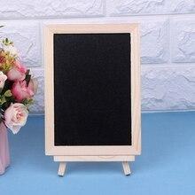 Новинка 18x13 см деревянная настольная доска двухсторонняя грифельная доска для сообщений для детей для письма черные доски игрушки