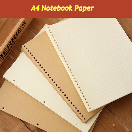 30 Ring Binder Notebook A4 Loose Leaf 3 Ring Spiral Notebook Paper Lined Blank Grid Notebook With Notebook Cover