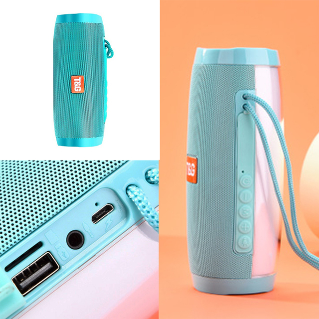 Portable Speaker Bluetooth-compatible Column Wireless  Speaker Outdoor Bass HIFI TF FM Radio soundbar with LED caixa de som 6
