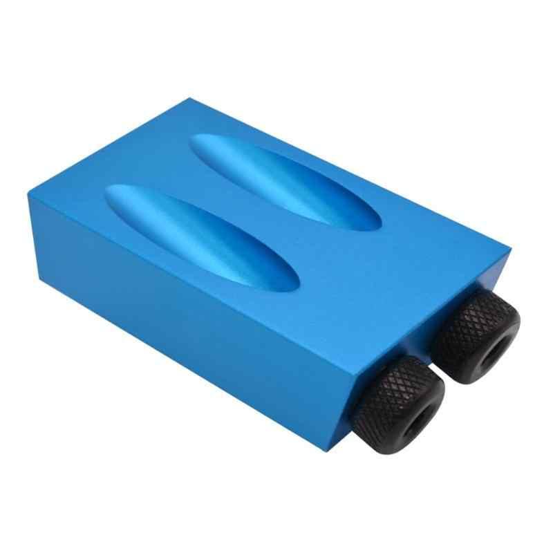 Travail du bois Oblique trou localisateur forets poche trou gabarit Kit 15 degrés Angle perceuse Guide ensemble trou perforateur bricolage outils de menuiserie