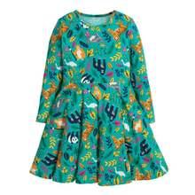 Little maven/Брендовое осеннее детское платье одежда для маленьких