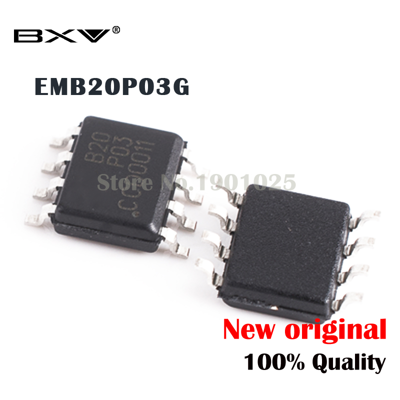 5PCS EMB20P03G EMB20P03 <font><b>B20P03</b></font> SOP-8 new original IC image