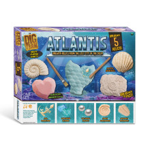 5-In-1 Kids DIY Montage Archeologie Speelgoed Atlantis Zee Koning/Mermaid/Piraat Graven Opgraving Kit vroeg Leren Educatief Speelgoed(China)