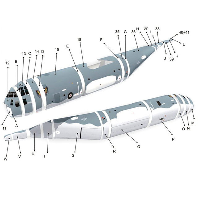 High Quality AC130 Ghost Aerial Gunship Aircraft Paper Model Military Fighter Paper Model 6