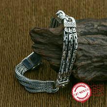 S925 sterling silver men's bracelet personality fashion clas