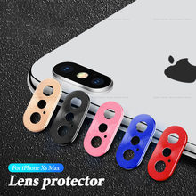 For iPhone X Rear Camera Lens Ring Case Cover Protector For iPhone XS Max XR 10 Protective Metal Case Mobile Phone Accessories(China)