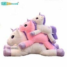 купить 1pc 60/80/110cm  Lovely Unicorn Plush Toys Soft Stuffed Cartoon Unicorn Dolls Cute Animal Horse Toys for Children Girls gift дешево