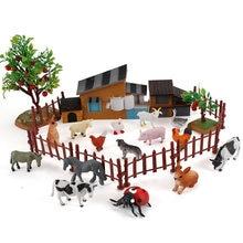 Fazenda jogar casa brinquedos diy mesa de areia decoração casa árvore modelo animal rancho cena conjunto decoração brinquedos educativos das crianças
