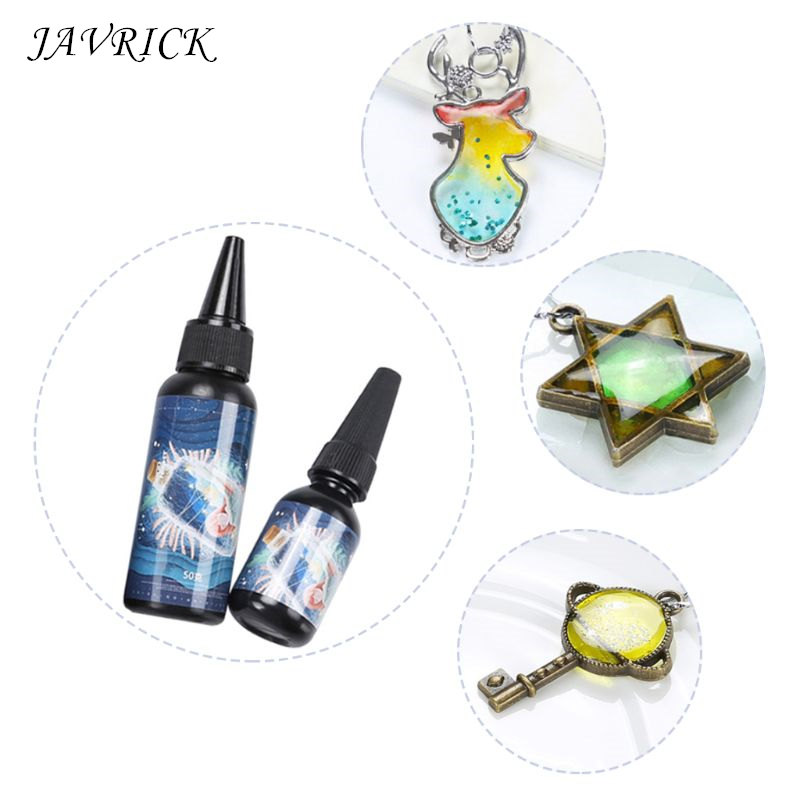 UV Glue Curing Transparent Crystal Epoxy Resin DIY Crafts Handmade Pendant Jewelry Making Material