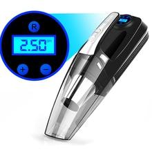 120W 4 In 1 Multi Function Portable Car Handheld Vacuum Cleaner Digital Display Dual Use Car Auto Inflatable Pump Air Compressor