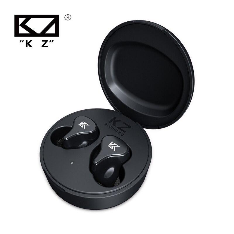 Плотным верхним ворсом KZ TWS Bluetooth Беспроводной наушники 5,2 Bluetooth наушники Игровые наушники сенсорный Управление Шум шумоподавления Спорт ба...