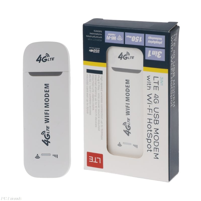 150Mbps 4G LTE USB Modem Network Adapter With WiFi Hotspot SIM Card 4G Wireless Router For Win XP Vista 7/10 Mac 10.4 IOS