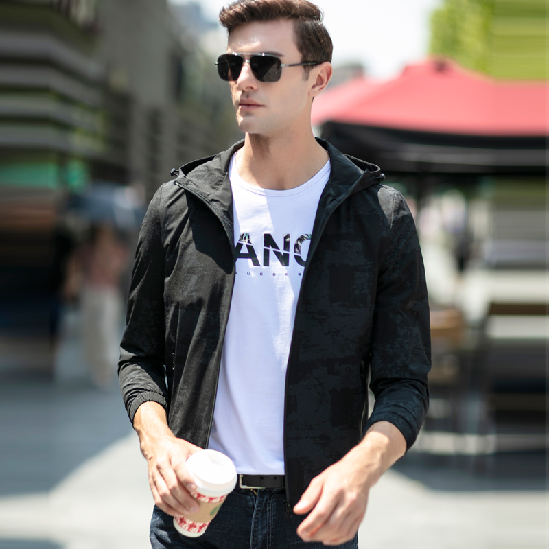 UCAK Brand Casual Zipper Chaquetas Hombre Men Clothes Jackets 2020 Spring Tops Hooded Blouson Homme Mens Clothing Coats U8086