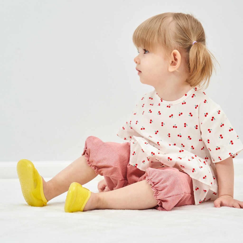 תינוק בני בנות גרב נעלי החלקה רצפת גרבי תינוק רך גומי בלעדי פעוט נעלי גרבי תינוק גרביים עם גומי סוליות