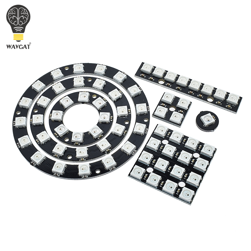 4 8 12 16 channel WS2812 WS2812B WS 2811 5050 RGB LED Lamp Panel Module 5V 1Bit 4Bit 8Bit 12Bit 16Bit 24Bit Rainbow LED Precise