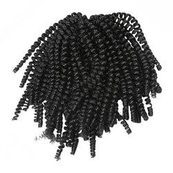 1 Set di 6 Piccoli Fasci di Crochet Africano Ricci Riccioli Crochet Trecce, Estensioni Dei Capelli Del Crochet