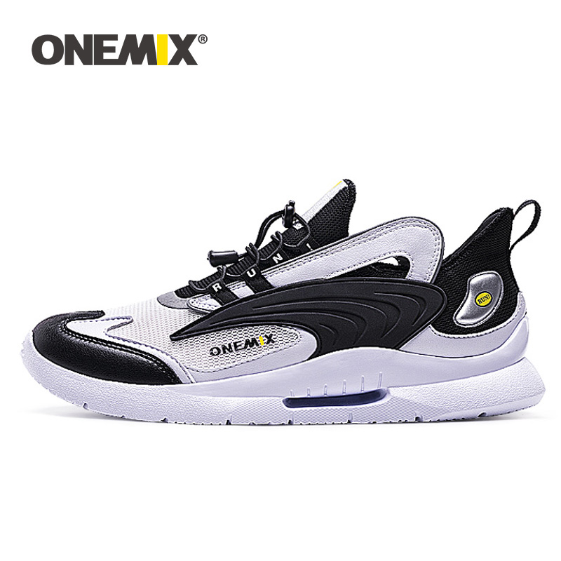 ONEMIX 2019 New Running Sneakers For Men Fashion Lightweight Breathable Reflective Tennis Shoes Women Couple Fiteness Trainers