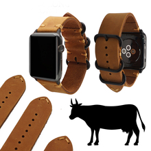 цена на Hot Sell Leather Watchband for Apple Watch Band Series 5/3/2/1 Sport Bracelet 42 mm 44mm Zulu Strap For iwatch 4 Band
