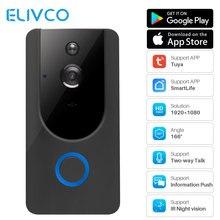 Tuya 1080P умный видео дверной звонок WiFi беспроводной видеодомофон дверной звонок двухсторонний аудио пульт дистанционного записи домашний монитор безопасности