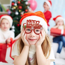 1pc Merry Christmas Santa Antler Glasses Ornaments Tree Bow-knot Kids Xmas Toys Christmas/ New Year Decor Party Photo Props