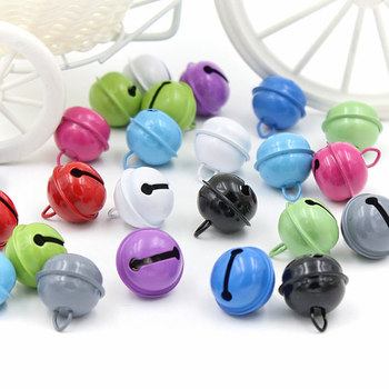 20PCS Rich and colorful Christmas Bells Beads Jingle Bells Christmas Party Decoration Pendants DIY Crafts Handmade Accessories jingle bells