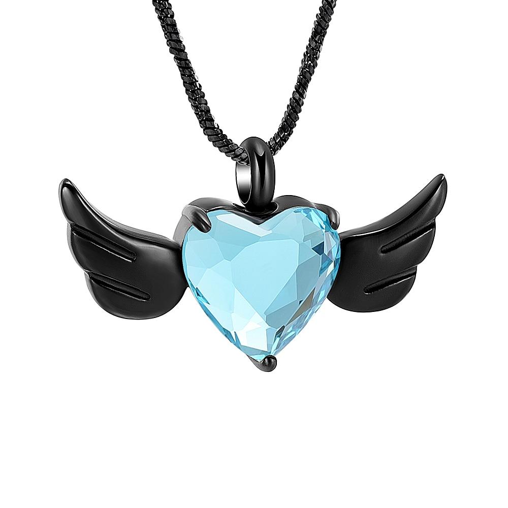 3 Colors Angel Wings Ash Urn Necklace Cremation Urn Keepsake Pendant Necklace